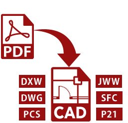 pdf cad 変換 autocad