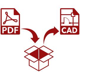 pdf cad形式 変換
